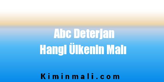 Abc Deterjan Hangi Ülkenin Malı