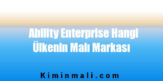 Ability Enterprise Hangi Ülkenin Malı Markası
