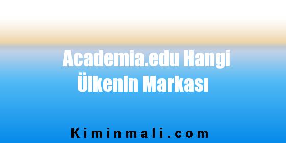 Academia.edu Hangi Ülkenin Markası