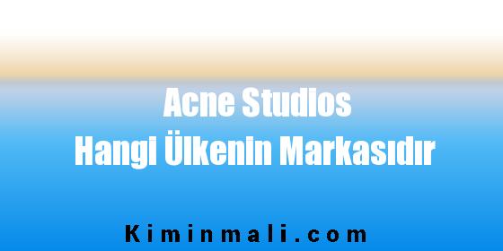 Acne Studios Hangi Ülkenin Markasıdır