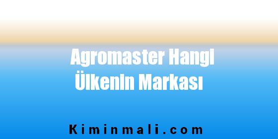 Agromaster Hangi Ülkenin Markası