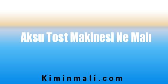 Aksu Tost Makinesi Ne Malı