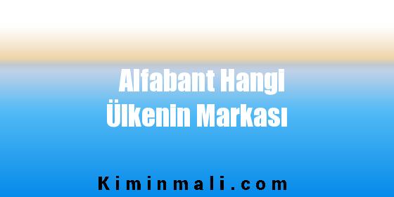 Alfabant Hangi Ülkenin Markası