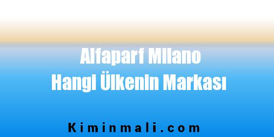 Alfaparf Milano Hangi Ülkenin Markası