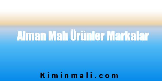 Alman Malı Ürünler Markalar