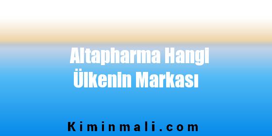 Altapharma Hangi Ülkenin Markası