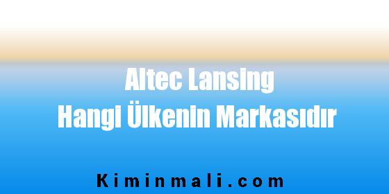 Altec Lansing Hangi Ülkenin Markasıdır