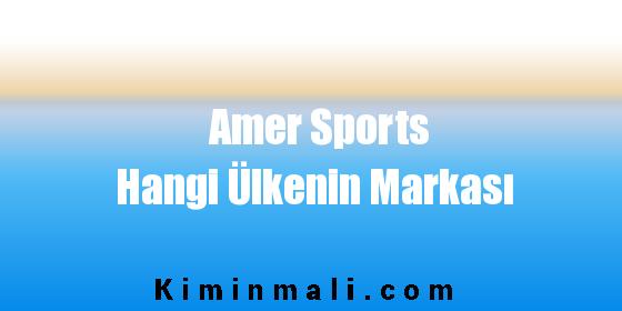 Amer Sports Hangi Ülkenin Markası