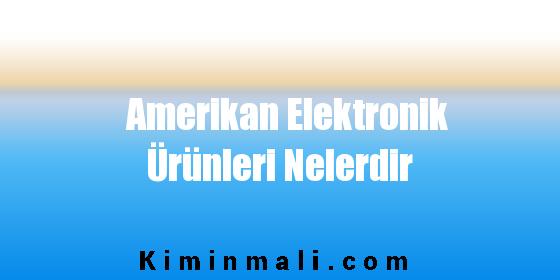 Amerikan Elektronik Ürünleri Nelerdir