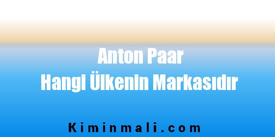 Anton Paar Hangi Ülkenin Markasıdır
