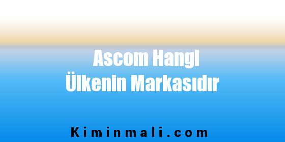 Ascom Hangi Ülkenin Markasıdır