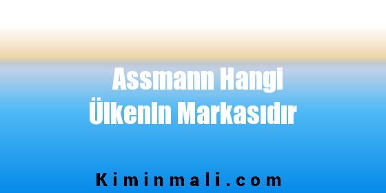 Assmann Hangi Ülkenin Markasıdır