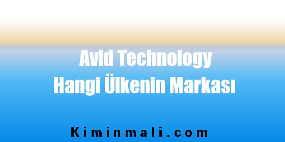 Avid Technology Hangi Ülkenin Markası