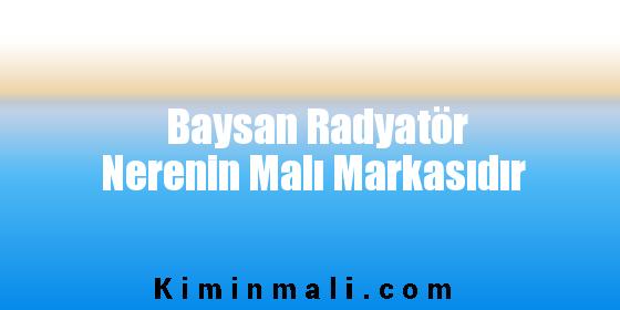 Baysan Radyatör Nerenin Malı Markasıdır