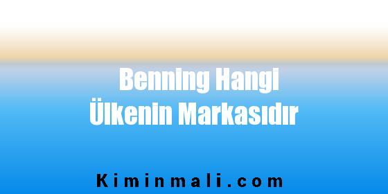 Benning Hangi Ülkenin Markasıdır