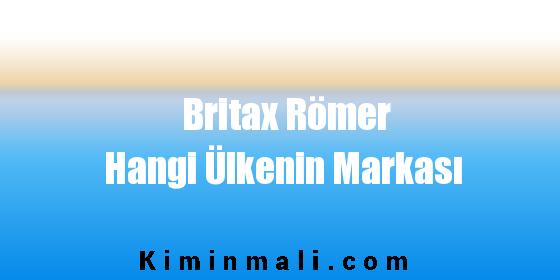 Britax Römer Hangi Ülkenin Markası