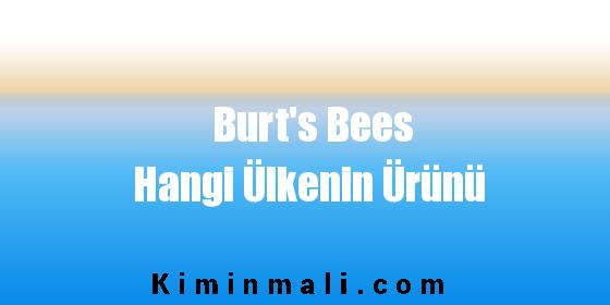 Burt's Bees Hangi Ülkenin Ürünü