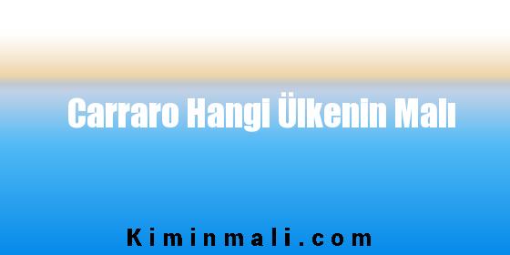 Carraro Hangi Ülkenin Malı