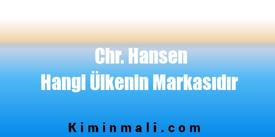 Chr. Hansen Hangi Ülkenin Markasıdır