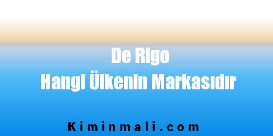 De Rigo Hangi Ülkenin Markasıdır