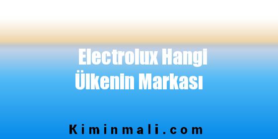 Electrolux Hangi Ülkenin Markası