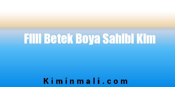 Filli Betek Boya Sahibi Kim