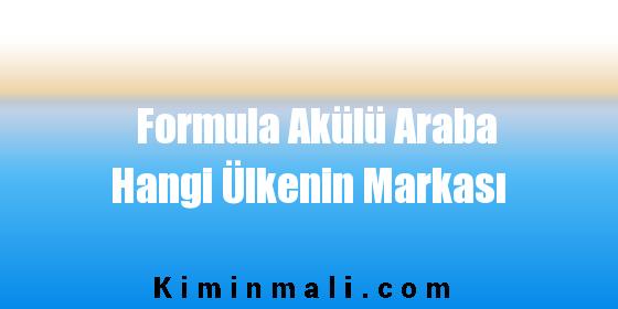 Formula Akülü Araba Hangi Ülkenin Markası