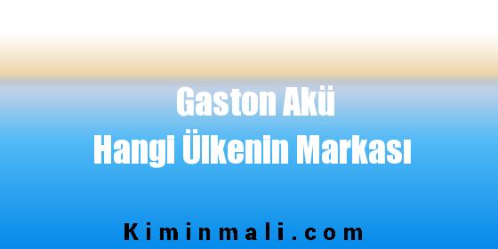 Gaston Akü Hangi Ülkenin Markası