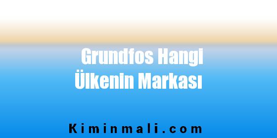 Grundfos Hangi Ülkenin Markası