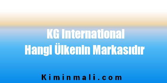 KG International Hangi Ülkenin Markasıdır