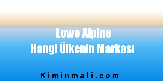 Lowe Alpine Hangi Ülkenin Markası