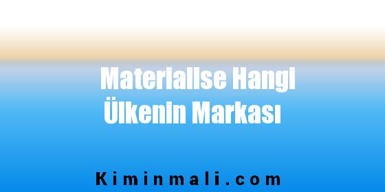 Materialise Hangi Ülkenin Markası