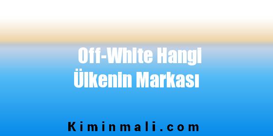 Off-White Hangi Ülkenin Markası