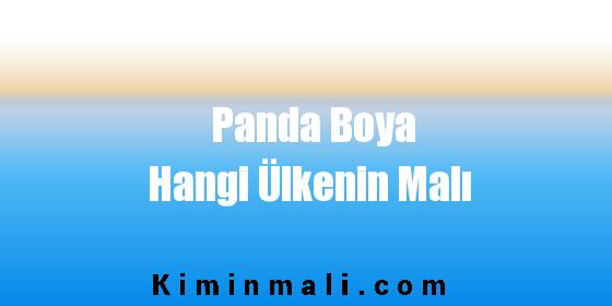 Panda Boya Hangi Ülkenin Malı