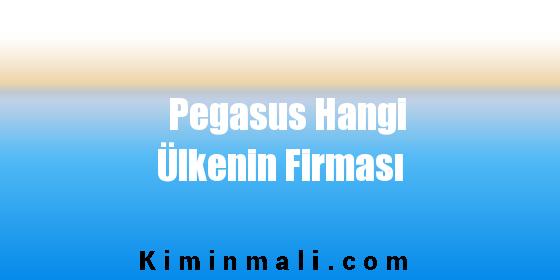 Pegasus Hangi Ülkenin Firması