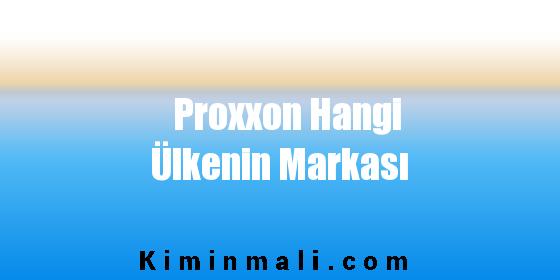 Proxxon Hangi Ülkenin Markası