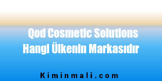 Qod Cosmetic Solutions Hangi Ülkenin Markasıdır
