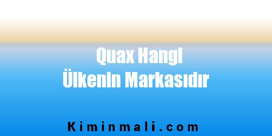Quax Hangi Ülkenin Markasıdır