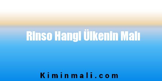 Rinso Hangi Ülkenin Malı