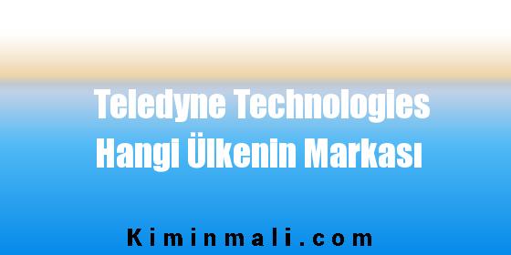 Teledyne Technologies Hangi Ülkenin Markası