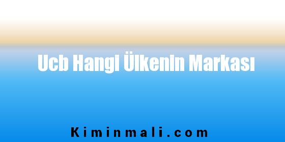 Ucb Hangi Ülkenin Markası