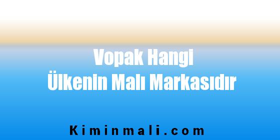 Vopak Hangi Ülkenin Malı Markasıdır