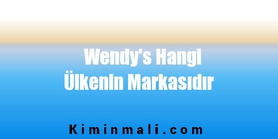 Wendy's Hangi Ülkenin Markasıdır