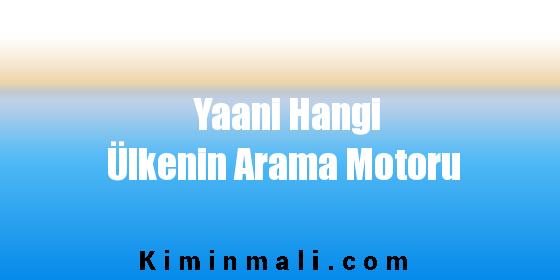 Yaani Hangi Ülkenin Arama Motoru